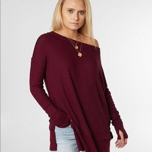 Free People Tops - NWT Free People Fig Sorbet North Shore Thermal